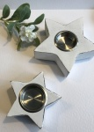 Small White Star Tea Light Holder by Retreat