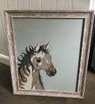 Framed Embroidery ''Horse'' by Ema Corcoran at The Hare in The Sweater