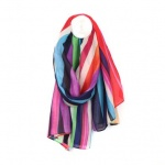 Recycled Bright Stripe Scarf by Peace of Mind