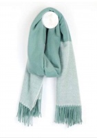 Aqua Herringbone Scarf by Peace of Mind