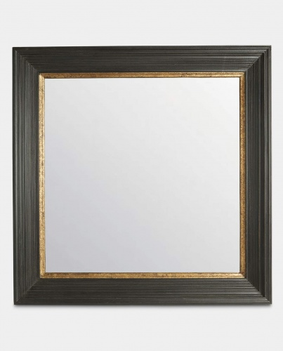 Large Square Black & Gold Mirror by The Vintage Garden Room