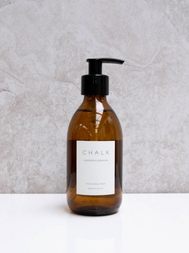 Amber Glass Hand & Body Wash Lavender & Geranium by ChalkUK
