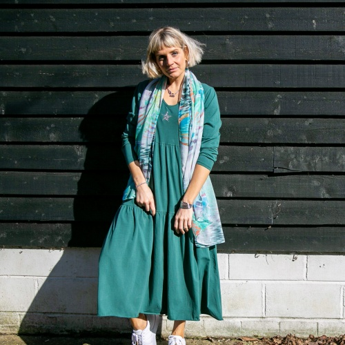 Sienna Tiered Star Dress, Green by Tilley & Grace