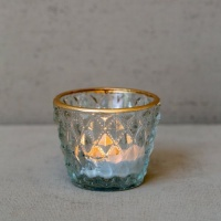 Pressed Diamond Tealight Holder by Grand Illusions