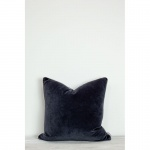 Unari Indigo Velvet Cushion by Also Home