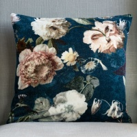 Flora Velvet Cushion by Grand Illusions