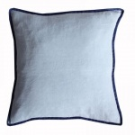 Blue/Navy Piping Boarder Cushion by Biggie Best