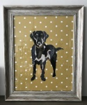 Exclusive Framed Embroidery ''Labrador'' by Ema Corcoran for Hilly Horton Home