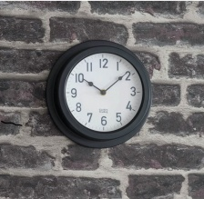 Tenby Clock Charcoal by Garden Trading