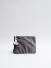 Annie Velvet Purse in Charcoal by ChalkUK