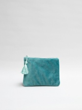 Annie Velvet Purse in Teal by Chalk UK