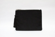 Annie Velvet Purse in Black by ChalkUK