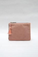 Annie Velvet Purse in Pink by ChalkUK