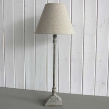 Antique wood finish table lamp by Biggie Best