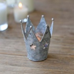 Nordic Crown, Tin Tea Light Holder by Biggie Best