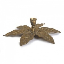 Golden Palm Candle Holder by Grand Illusions