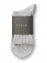 Cosy Cashmere Mix Socks Silver by ChalkUK