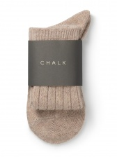 Cosy Cashmere Mix Socks Biscuit by ChalkUK