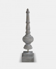 Tall Grey Decorative Finial by The Vintage Garden Room