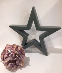 Hilly Horton Home Painted Signature Star - Small Charcoal
