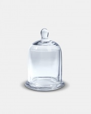 Small Glass Cloche & Base by The Vintage Garden Room