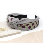 Grey & Claret Spot Headband by Peace Of Mind