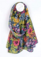 Recycled Yarn Garden Flower Scarf by Peace of Mind