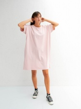 Linda dress in Pink with Navy Star by Chalk UK