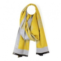 Mustard and Grey Tree of Life Scarf by Peace of Mind