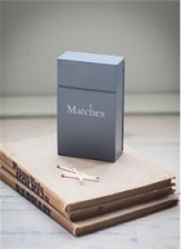 Match Box in Carbon by by Garden Trading