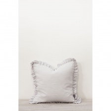 Oli Ruffle Cushion Silver Grey by Also Home