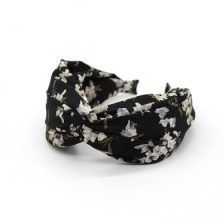 Black Vintage Flower Headband by Peace of Mind