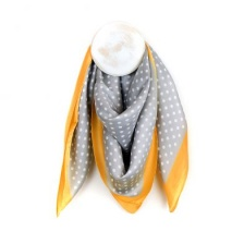 Yellow & Grey Silky Spot Scarf by Peace of Mind
