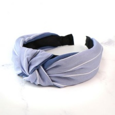 Blue & White Stripe Headband by Peace of Mind
