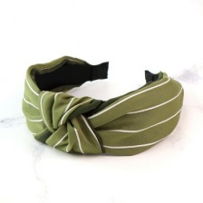 Green & White Stripe Headband by Peace of Mind