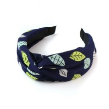 Navy Mix Leaf Print Headband by Peace of Mind