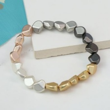 Mixed Metallic Multi Nugget Bracelet by Peace of Mind