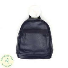Vegan Leather Navy Backpack by Peace of Mind
