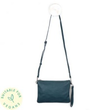 Vegan Leather Teal Convertable Clutch Bag by Peace of Mind