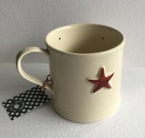 Hand Painted Red Star Mug by ECP Design