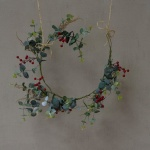 Red Berry & Eucalyptus Garland by Grand Illusions
