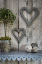Grey Chunky Hanging Heart (Large) by Retreat