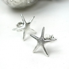 Sterling Silver Star Fish stud earrings by Peace of Mind
