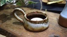 Tawny, Stoneware Tea Light Holder