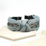 Grey & Teal Spot Headband by Peace Of Mind