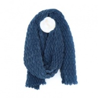 Textured Blue Scarf by Peace of Mind