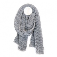 Textured Grey Scarf by Peace of Mind