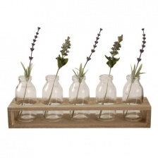 Wooden Tray with Five Bottles by Grand Illusions