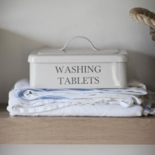 Washing Tablet Box Chalk by Garden Trading