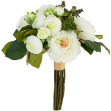 Faux Summer Bouquet White by Grand Illusions